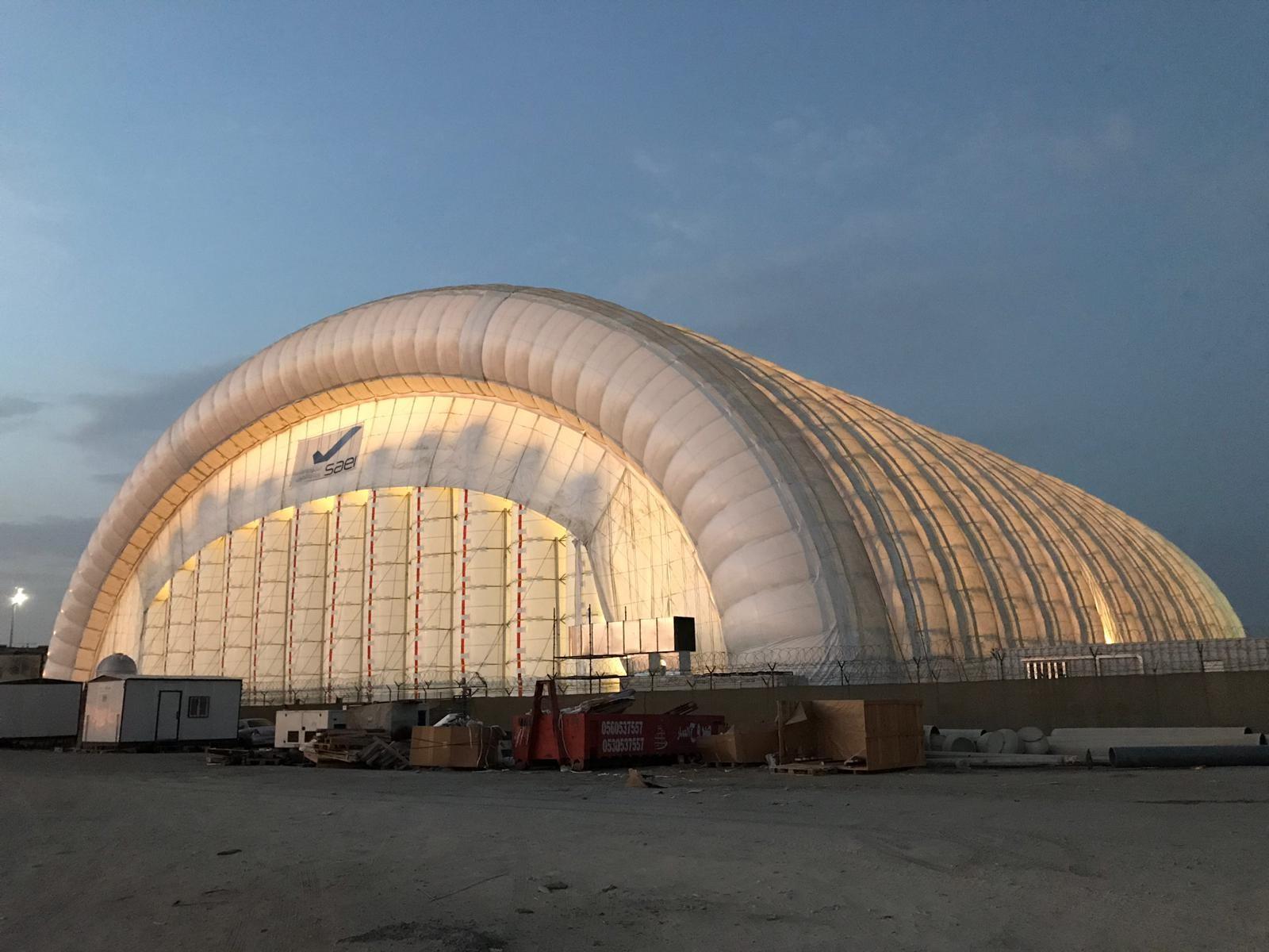 SIDE colabora en la creación de la estructura inflable más grande del mundo